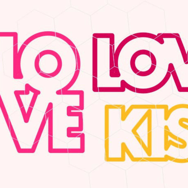Download FREE Kiss, Valentine kiss, love in svg, dxf, png format ...