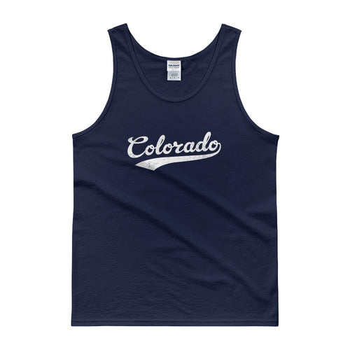 Vintage Colorado CO Tank Top Script Tail Design Adult - JimShorts