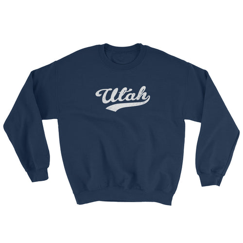 Vintage Utah UT Sweatshirt with Script Tail Design Adult (Unisex) - JimShorts