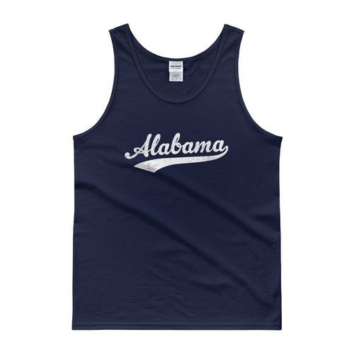 Vintage Alabama AL Tank Top Script Tail Design Adult - JimShorts