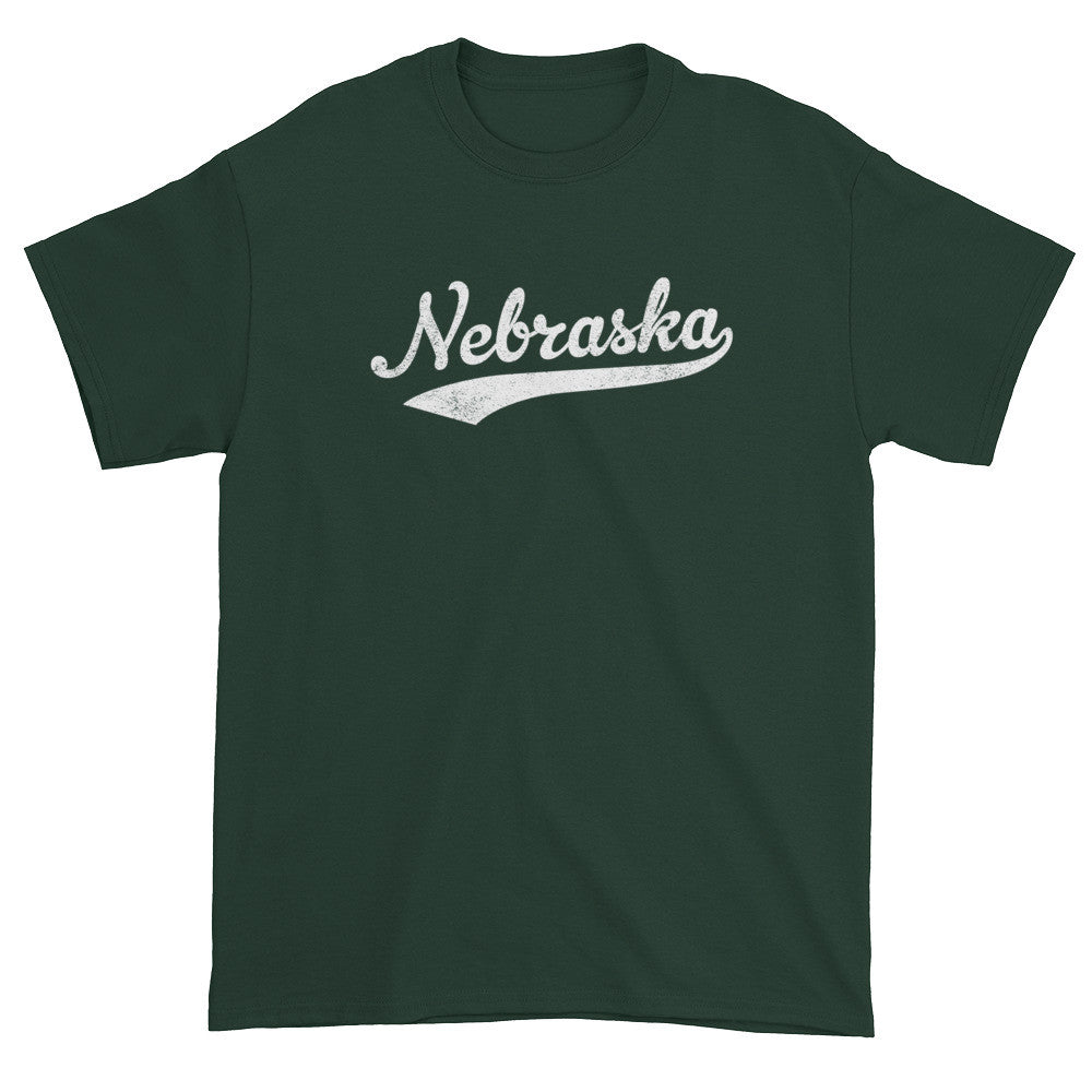 Vintage Nebraska NE T-Shirt with Script Tail Design Adult - JimShorts
