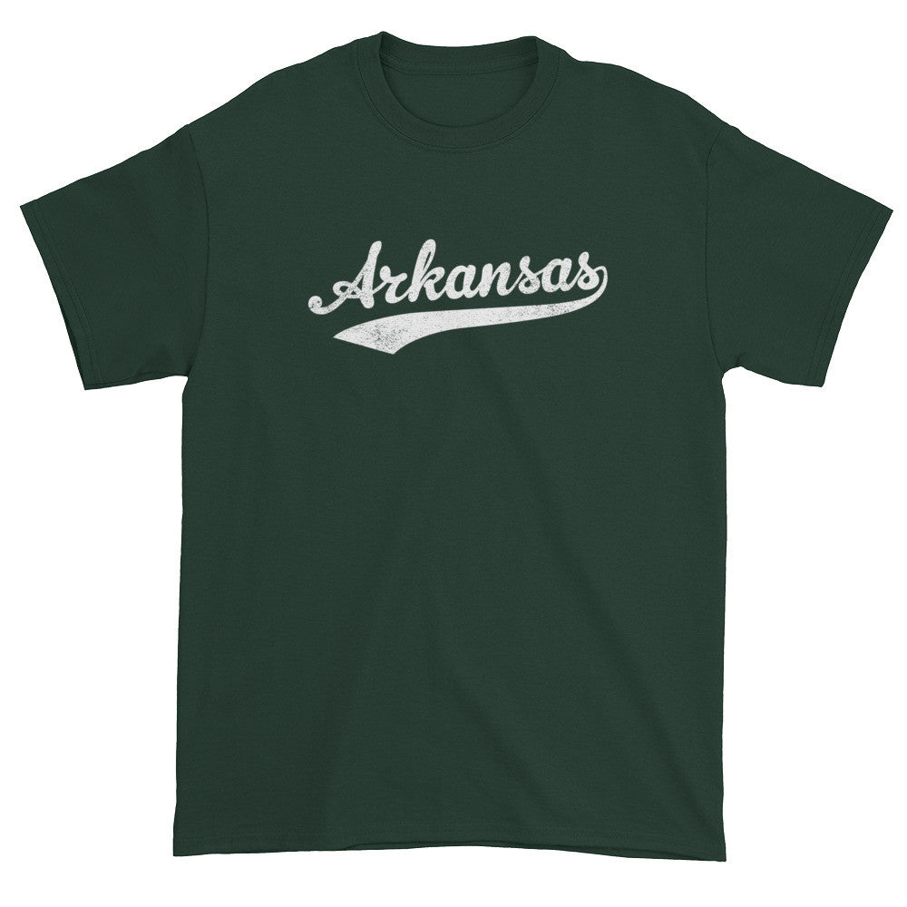 Vintage Arkansas AR T-Shirt with Script Tail Design Adult - JimShorts