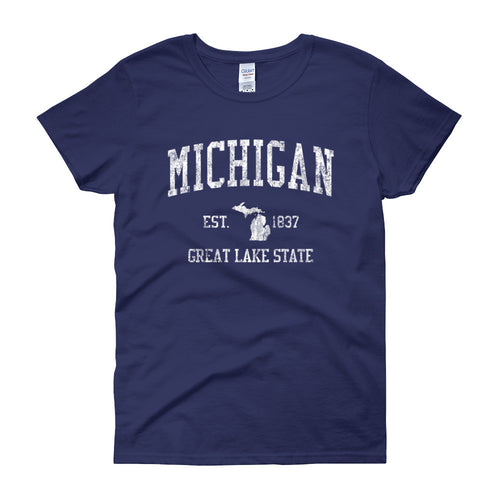 Vintage Michigan MI Women's T-Shirt - JimShorts