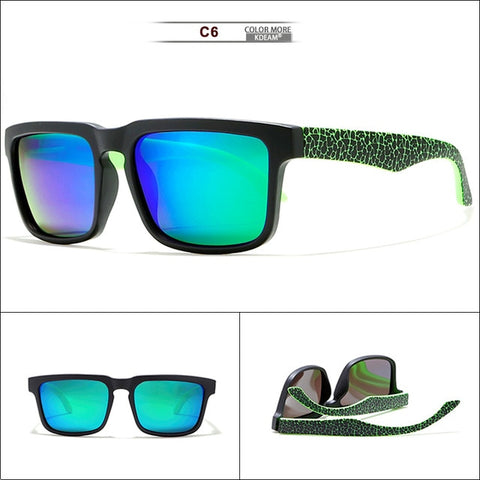 Camouflage Polarized Sunglasses Men and Women Fresh Doodling UV Glasses Saddle-style Bridge With Hard Case