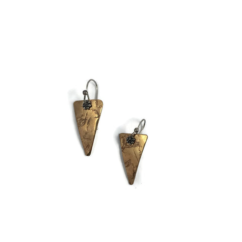 Brass Arrow Earrings