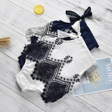 Baby Girls Embroidery & Lace Romper - My Modern Kid