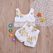 Summer Floral & Crop Baby Girls 2-Piece Set