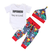"""SUPERHERO Has Arrived"" Cartoon Outfit - My Modern Kid"