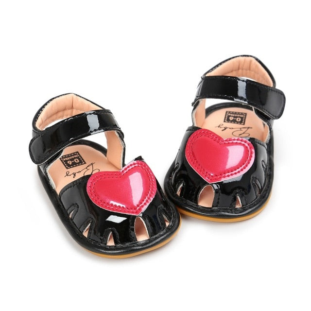 Lovely Baby Girls Heart Sandals - My Modern Kid