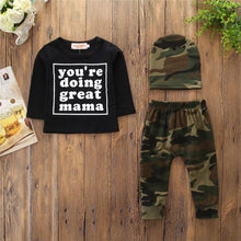 """You're Doing Great Mama"" Camouflage 3-Piece Set - My Modern Kid"