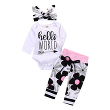 """Hello World"" Floral Print Set - My Modern Kid"