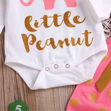 """Little Peanut"" Baby Girls Elephant Print Set - My Modern Kid"