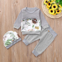 """Floral In Autumn"" Baby Girls Fall Print Set - My Modern Kid"