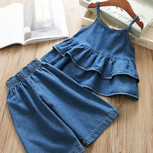 Summer Denim & Ruffles 2-Piece Set