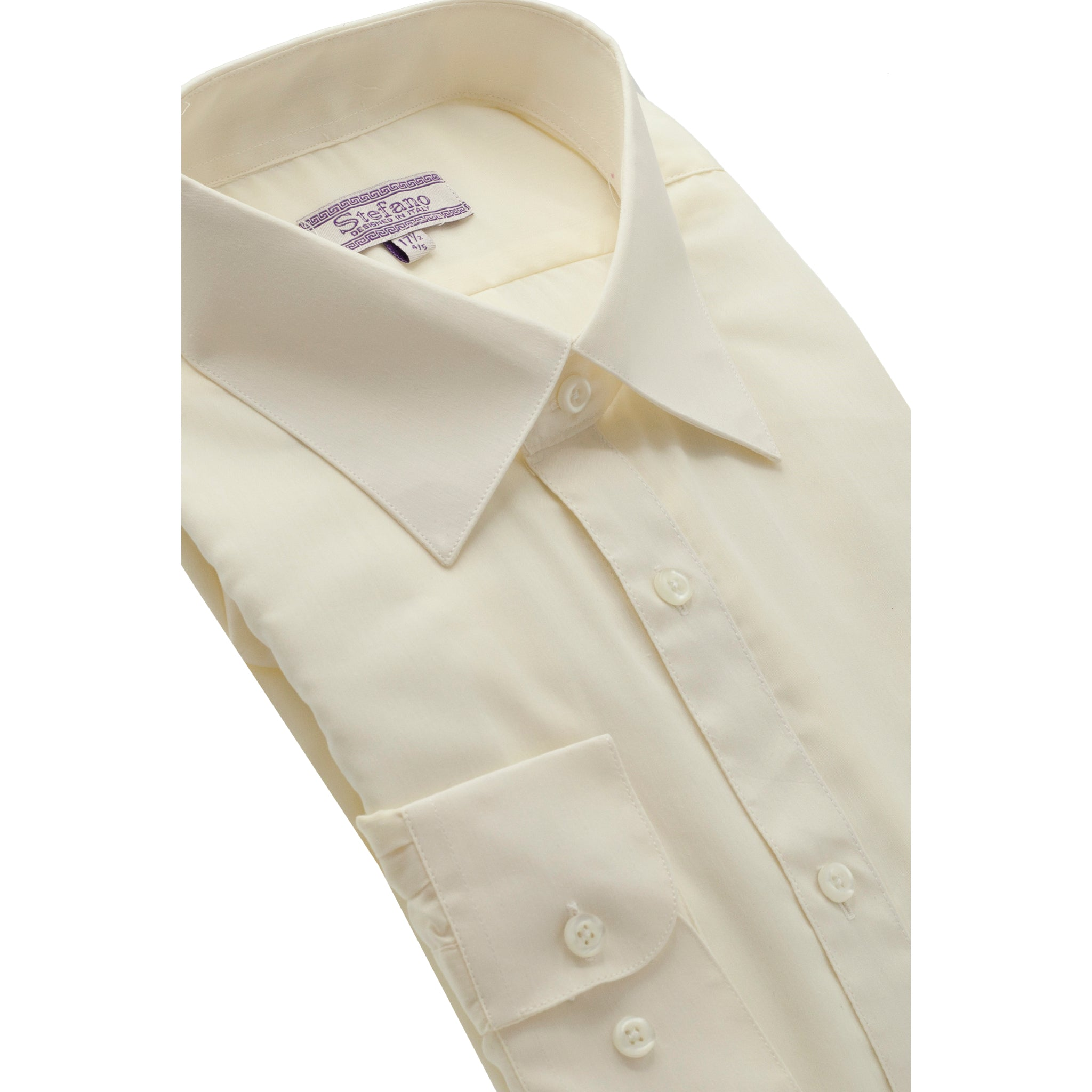 STEFANO SOLID DRESS SHIRT IVORY