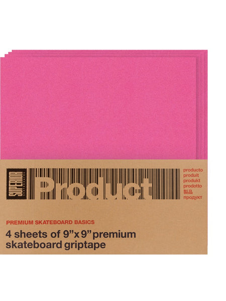 Supero Product Pink Grip Tape 4 Pk 9x9 Squares