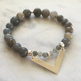 Movement with Intelligence Bracelet - Labradorite
