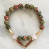 Symphony of Life - Unakite & Rose Quartz