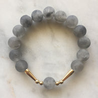 Union Bracelet - Grey Quartz
