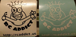 "RC Addict 4"" cut vinyl stick on graphic"