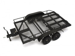 1/10 Scale Aluminum Dual Axle Trailer For Scale Trucks & Crawlers W/ Leaf Spring