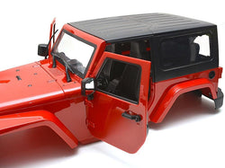 Team Raffee Co. Wrangler Body For 1/10 RC Crawler Hard Top Red