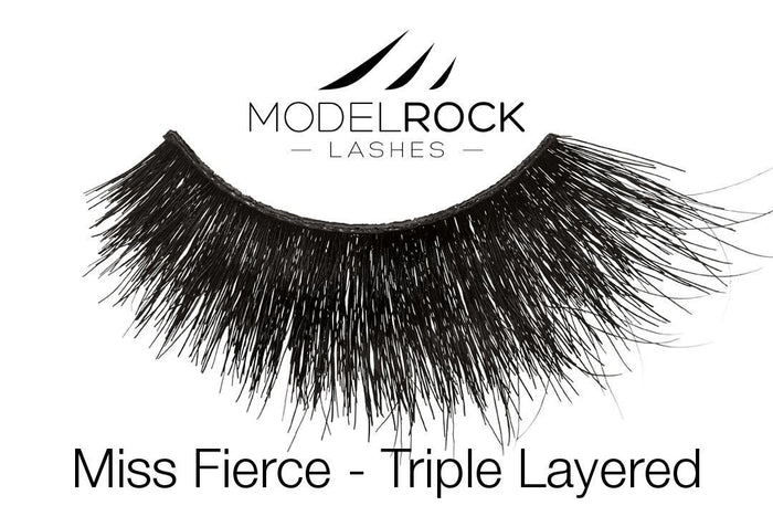 Model Rock Triple Layered Lashes - Miss Fierce