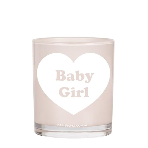 Baby Girl -Damselfly Large Candle
