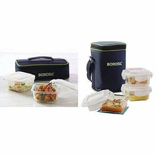 Glass Tiffin Set, 320ml, Set of 2 - Dista Cart