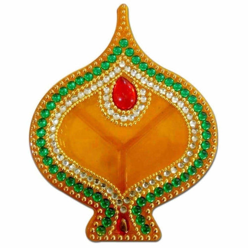 Fire Lamp Design Kumkum Box - 1 Piece - Dista Cart