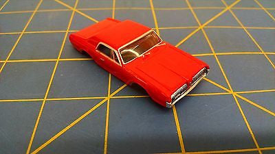 Red '67 Cougar T-Jet HO Body Mid America AWC B69-01