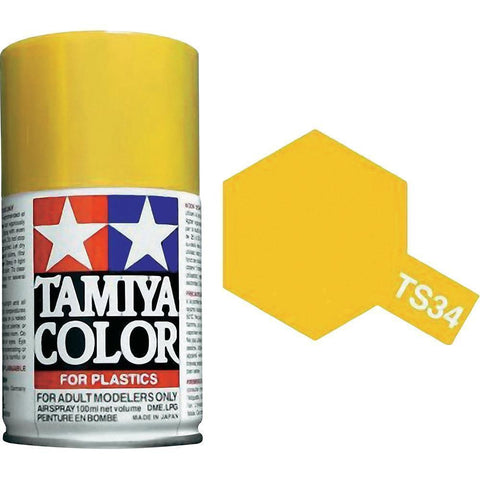 Tamiya TS-34 Camel Yellow Spray Paint Can 3 oz 100ml 85034 MidAmerica Naperville
