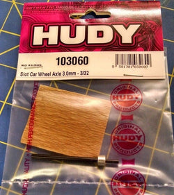 Hudy 3.0mm wheel axle 3/32 - H103060 from Mid America Raceway Naperville