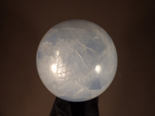Madagascan Blue Calcite Sphere - 70mm, 475g