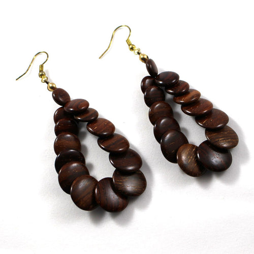 Wood Earrings - Dedra - Natural Artist