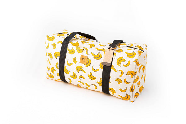 Canvas Duffel Bag - Canvas Duffel Bag - Gym Or Sports Bag, Carry-On Travel Luggage By Lemur Bags (Bananas)