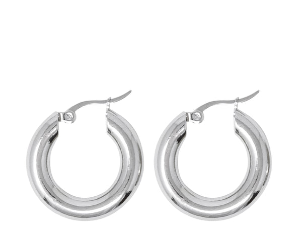 Medium Freja hoops in Gold & Silver