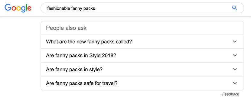 """People also ask"" in Google search"