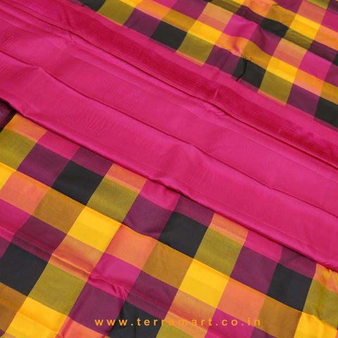 Terramart_Exclusive Soft Silk Pure Pattu Saree for Women / Girls (Multicolour & Gold)