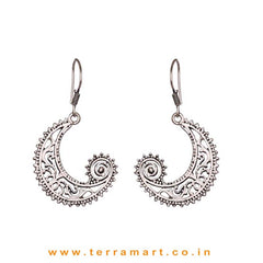 Different Looking Oxidized Metal Hook Earrings - Terramart Jewellery