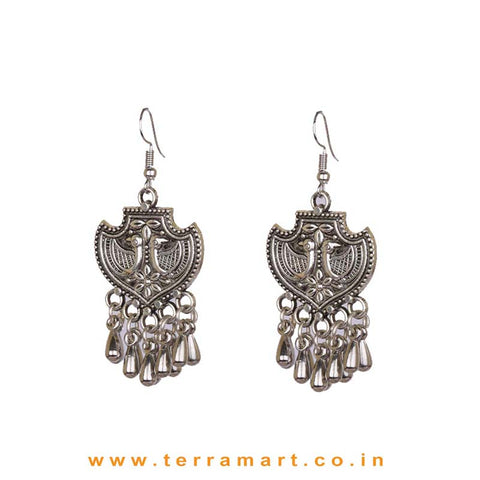 Fashion Oxidised Metal Hook Earrings - Terramart Jewellery