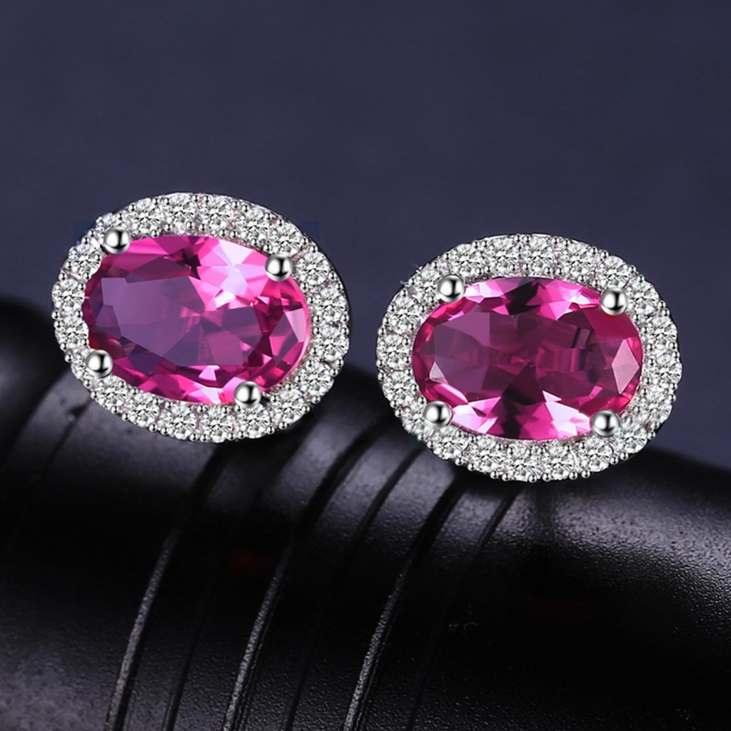 Princess Diana inspired 2.15ct Tourmaline Birthstone S925 Earring (October)