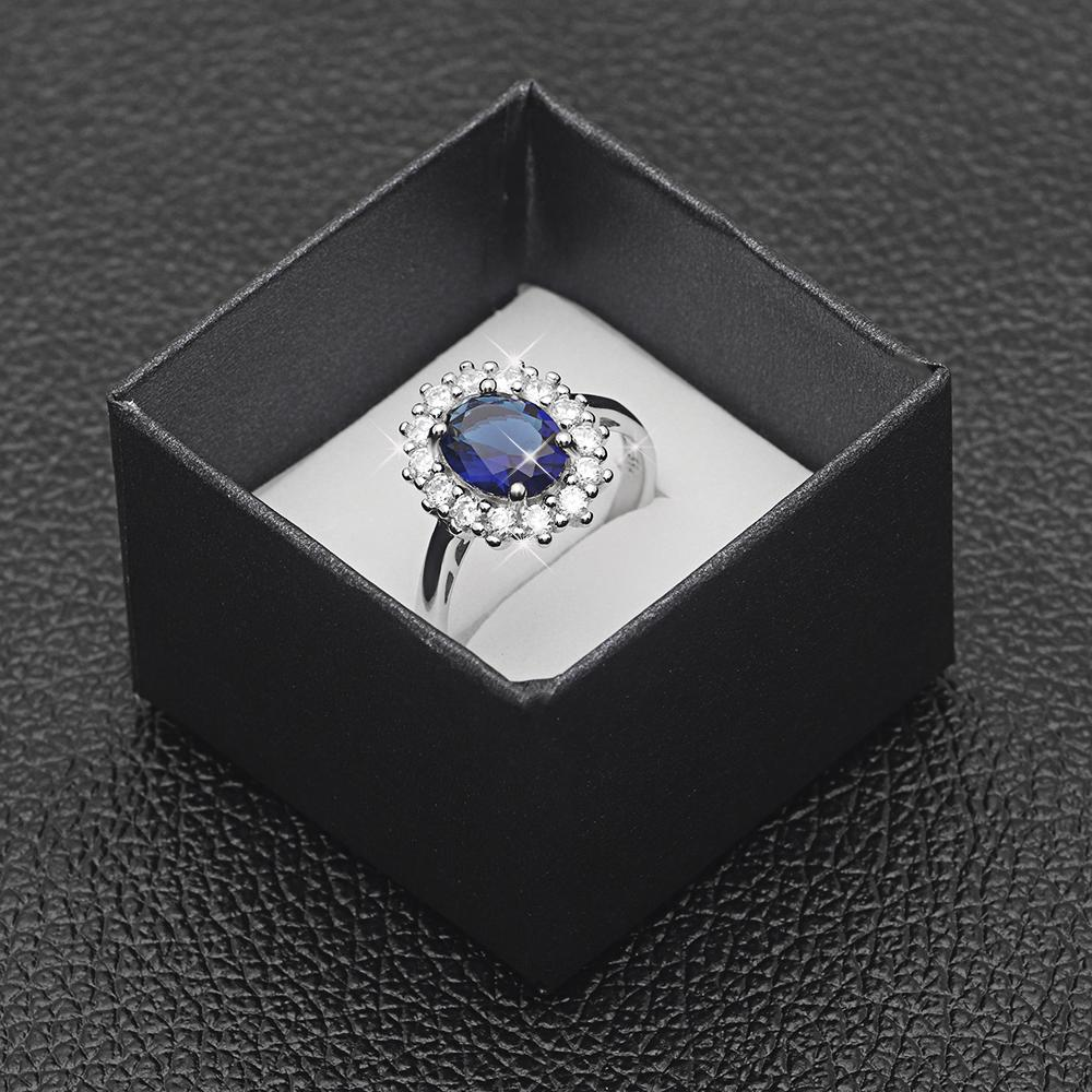 Princess Diana inspired 3.2ct Sapphire S925 Ring (September)