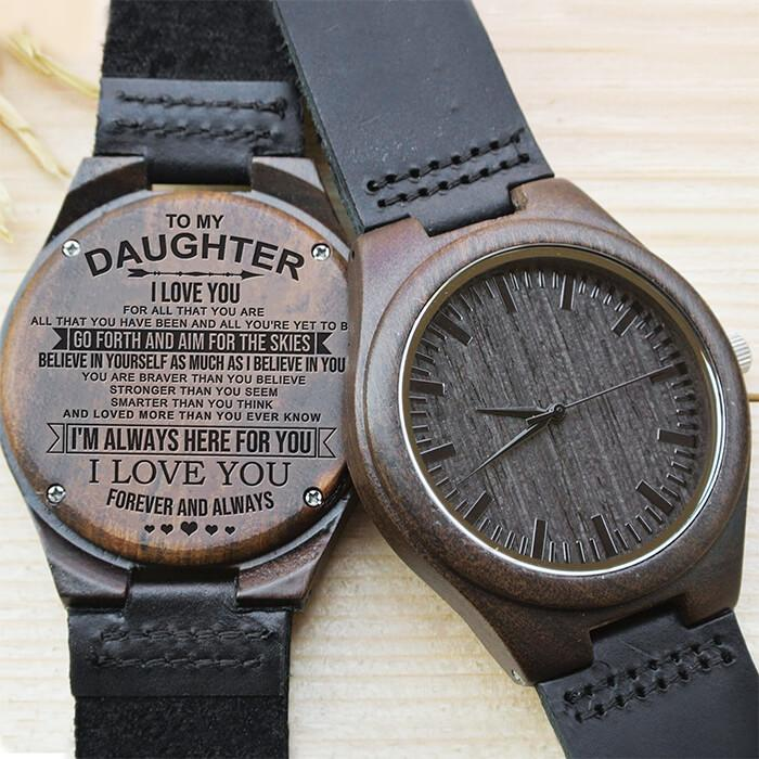 To My Daughter - Aim For The Skies - Wood Watch
