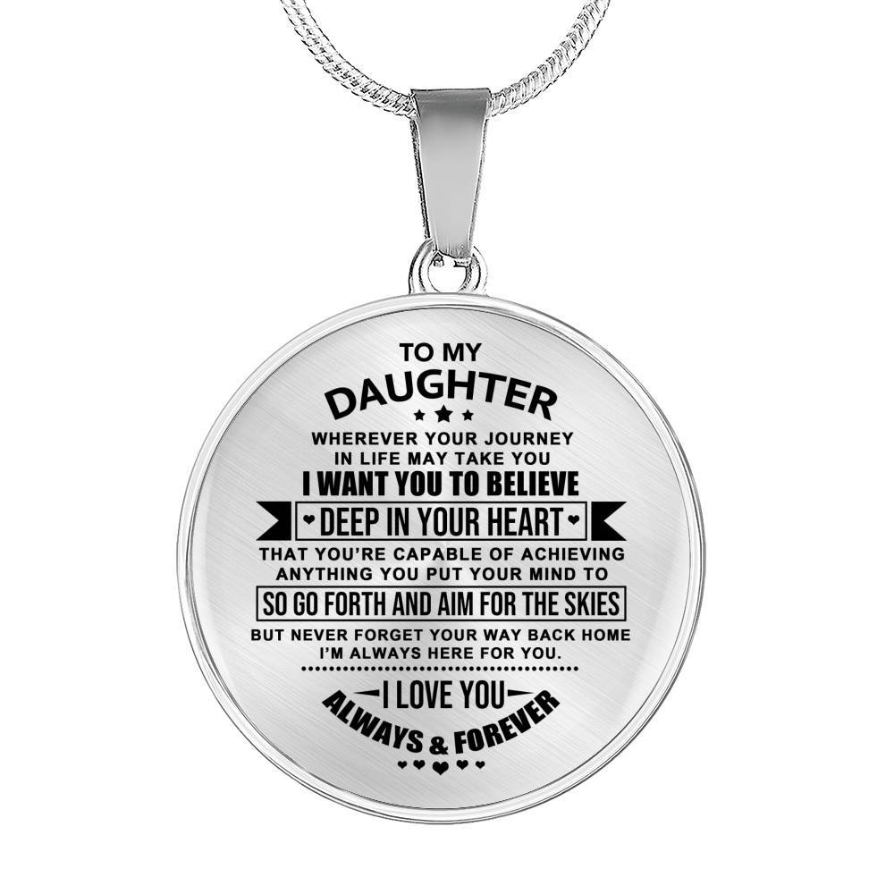Daughter - Always & Forever *Real 18k Gold Finish Pendant Necklace