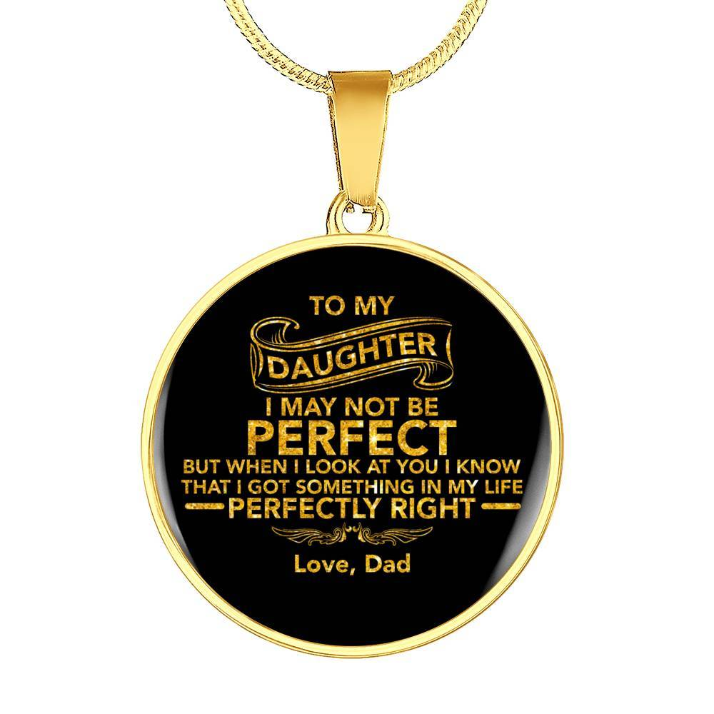 Daughter - From Dad - *Real 18k Gold Finish Pendant Necklace
