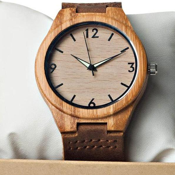Through My Eyes - From Dad - Custom Name Wood Watch