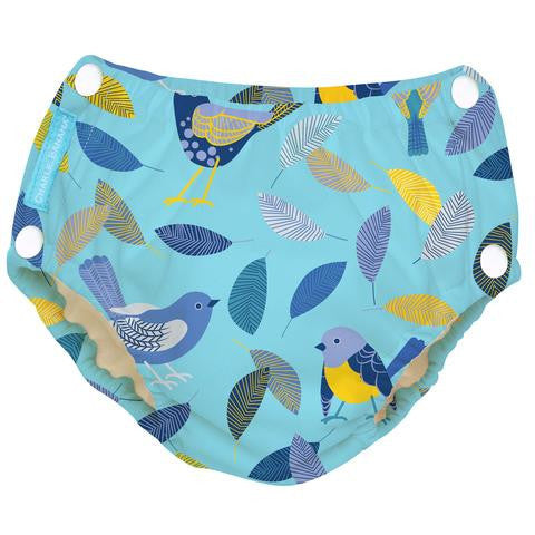 Charlie Banana Reusable Easy Snaps Swim Diaper Twitter Birds