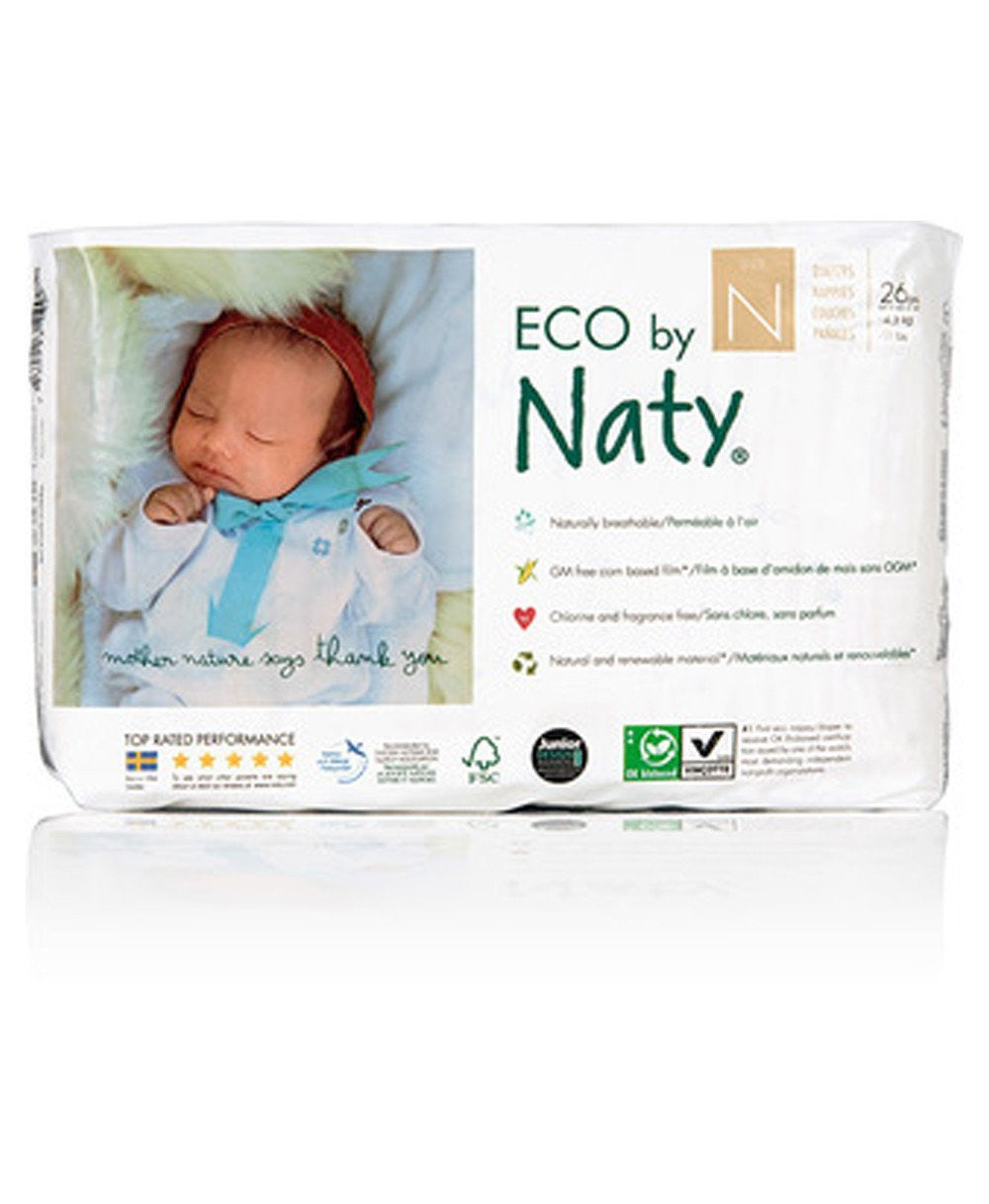 Naty Size Newborn Biodegradable ECO Diapers