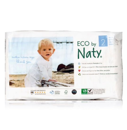 Naty Size 2 Biodegradable ECO Diapers